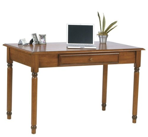 Buy Low Price Comfortable Computer Desk with Slide Out Tray in Antique Cherry Finish (B003WRCZEM)