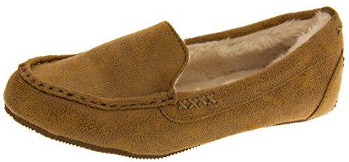 Skechers Donna Castagno Schiuma Di Memoria Mocassino Pantofole EU 37