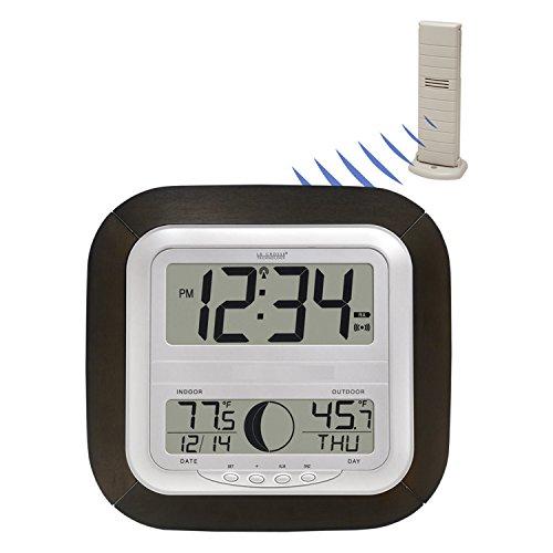 Digital Atomic Clock : La crosse technology ws u it atomic digital wall clock