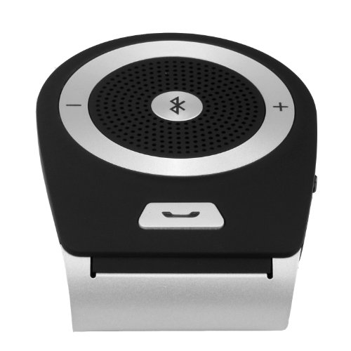 Hot Sale 2014 Bluetooth In-Car Speakerphone For All Apple Ipads/Iphone And Most Cell Phones Like Iphone 5S/5/4S/4 Android Samsung Galaxy S5 S4 S3 Note3 Lg G2 Nexus 5 Sony Xperia Z1 (Black)