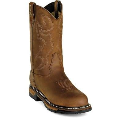 """Rocky Men's 11"""" Rocky Ride Branson WPF Steel Toe Western Boots-2809 (M8.5)"""