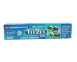 Kudos Teerex Gel Toothpaste Ayurvedic Formulation Multi Benefit Toothpaste (100g x 4Pack)