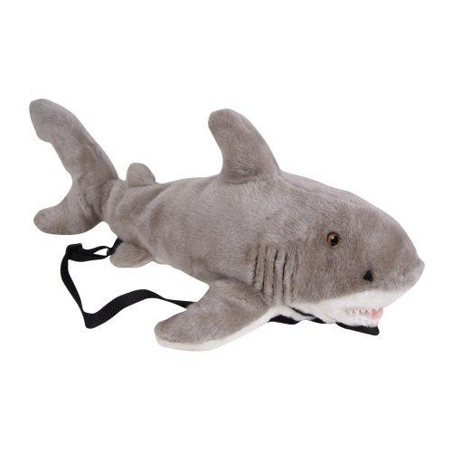 """23"""" Great White Shark Plush Stuffed Animal Little Backpack front-1030392"""
