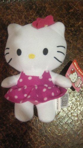 "6"" Hello Kitty Plush in Dress - 1"