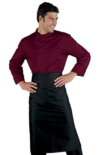 059303 Giacca cuoco Bilbao - Isacco Bordeaux per Abbigliamento per la cucina per Divise ufficiali Federazione Italiana Cuochi FIC Donna Uomo Giacche