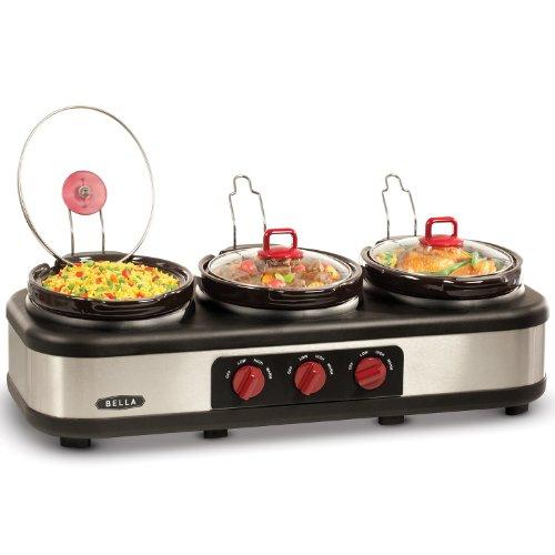 3 X 2.5QT Triple Slow Cooker with Lid Rests