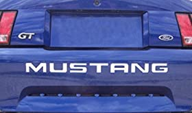 1999-04 FORD MUSTANG REAR BUMPER VINYL INSERTS Decals Letters - 38 Colors to choose from (Color :: Chrome Mirror Green)