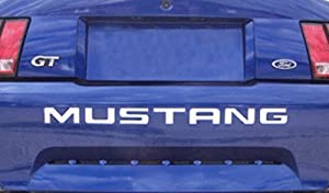 1999-04 FORD MUSTANG REAR BUMPER VINYL INSERTS Decals Letters - 38 Colors to choose from (Color :: Black)