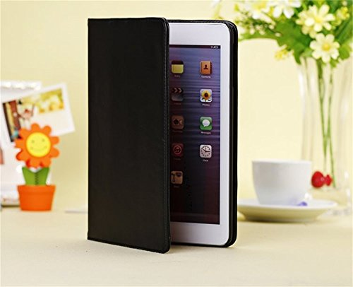 Ipad Mini Case, Ipad Mini 2/3 Borch Fashion Luxury Multi-function Protective Leather Pu Light-weight Folding Flip Smart Sleep Cover Book Shell Stand for Apple Ipad Mini, Ipad Mini 2 & 3 (Black)