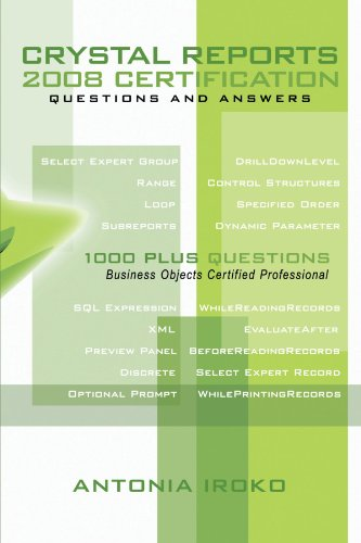 Crystal Reports 2008 Certification Questions and Answers