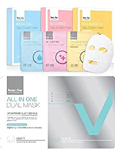 Hushu Premium Korean Facial Mask Introduction Set ,4 Sheets