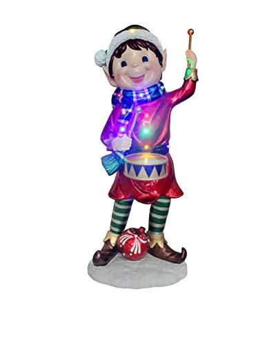 "National Tree Company 36.75"" Pre-Lit Drummer Elf"