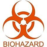 Orange Biohazard sticker decal BGC