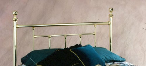 Hillsdale Furniture 1036Hfr Chelsea Headboard With Rails, Full, Classic Brass front-981721