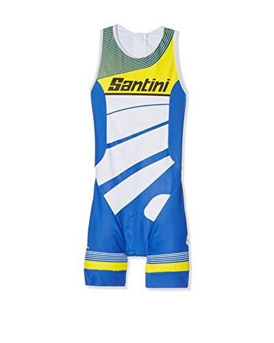 Santini Culotte Ciclismo Conan Azul
