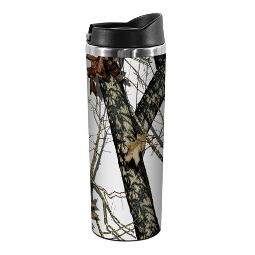 Tree-Free Greetings Tt02975 18-8 Double Wall Stainless Artful Tumbler, Winter Mossy Oak Camo, 14-Ounce