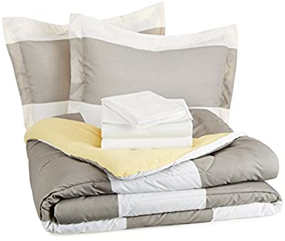 AmazonBasics 5-Piece Bed In A Bag - Twin/Twin XL