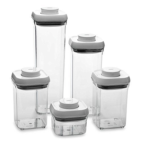 OXO Good Grips 5-Piece Food Storage Pop Container Set by OXO (Oxo Pop Spaghetti compare prices)