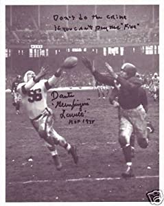 DANTE LAVELLI signed autographed NFL HOF CLEVELAND BROWNS photo w  RARE QUOTE