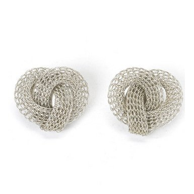 Clip Silver Knot Earrings by Sarah Cavender