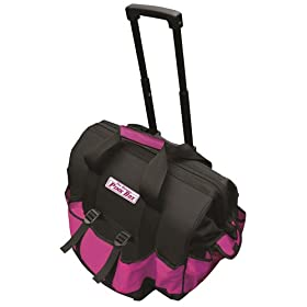 The Original Pink Box PB18TBR 18-Inch Pink Rolling Tool Bag at Sears.com