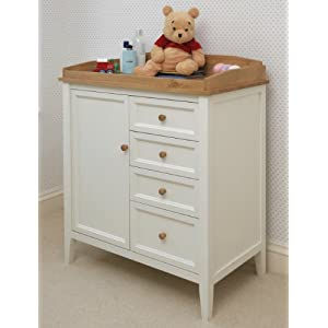 best offer white painted baby changing chest teddington nursery furniture changer unit with drawers and storage cupboard baby on sale now with special price baby nursery furniture teddington collection