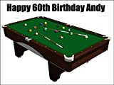 A4 Size Pool Table Birthday Cake Toppers Decorations Personalised On Edible Rice Paper Please use the Contact Seller link to send us your personalised message