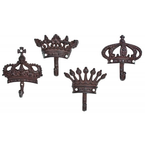Shabby Cottage Chic Crown Decorative Wall Hooks