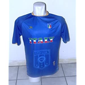 ITALY GOLD COLLAR SOCCER JERSEY size large