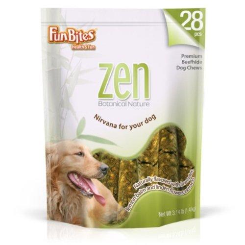 FunBites Zen Round Rawhide Stick, 6.5-Inches,