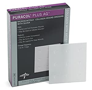 dressing collagen puracol plus ag 4x4 box of 10 health personal care. Black Bedroom Furniture Sets. Home Design Ideas