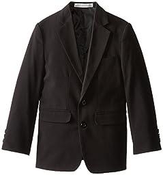 Perry Ellis Big Boys\' 2 Button Bi-Stretch Jacket, Black, 14
