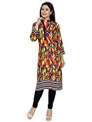 Tanvi Multi Color Cotton Straight Kurti For Women