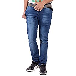 URBAN FAITH Stylish Jeans in Blue for men's