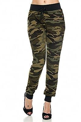 Sassy Apparel Women's Camo Print High Waist Jogger Pants with Zipper Pockets