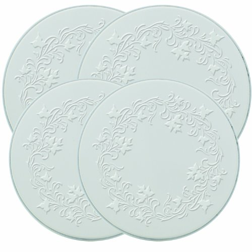 Range Kleen 5057 Embossed Burner Kover, White, Set of 4
