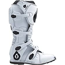 SixSixOne Comp Adult Motocross/Off-Road/Dirt Bike Motorcycle Boots - White / Size 12