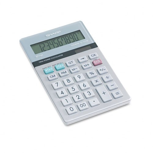 Sharp Products - Sharp - EL-334MB Basic Calculator, 10-Digit LCD - Sold As 1 Each - Perfect for home or small business setting. - Ten-digit display with punctuation for larger calculations. - Dual solar/battery power for use in any lighting condition.