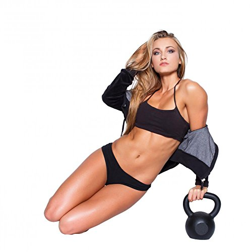 Wallmonkeys WM258811 Sexy Fitness Model Sit with Kettlebell Peel and Stick Wall Decals (18 in H x 18 in W)