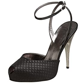Endless.com: Giuseppe Zanotti Women's I80007 Pump: Categories - Free Overnight Shipping & Return Shipping :  black quilted heels ankle strap