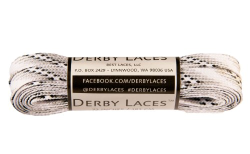 Smoke 72 Inch Waxed Skate Lace - Derby Laces for Roller Derby, Hockey and Ice Skates, and Boots