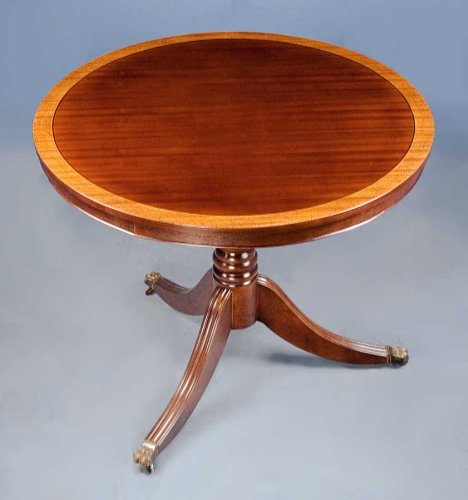 3ft Mahogany Tilt Top Pedestal Table