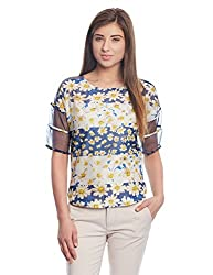 Madame Women's Body Blouse Top (M1518506_Navy_Small)