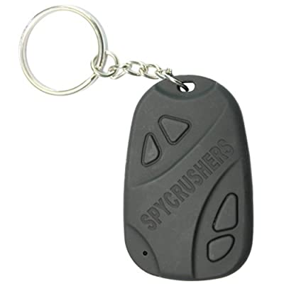 Car Keychain Spy Camera - Hidden Pinhole Digital Video Recorder & Mini Spy Camera - Free 4GB SD Card Included - PC WebCam Functionality - Easy USB Plug & Play For PC's & Mac's - Best Car Key Chain Spy Camera - Car Remote DVR - Money Back Guarantee by Crus