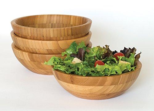 Lipper Bamboo Small Bowls, SET/4, Natural