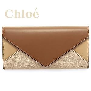 クロエ Chloe 財布 長財布 レディース 二つ折り PATCHWORK パッチワーク ブラウン 3P0171 904 17W DINGHY WOOD