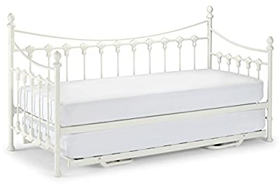 3ft Single Metal Sareer Daybed In Ivory With Trundle Curved Design New Arrival