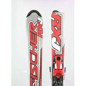 Used Fischer RXJ Kids Snow Ski with Salomon S305 Binding 120cm C Tail Wear