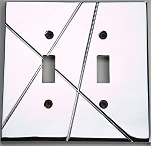 Atlas Homewares NSDT-CH Modernist 4-7/8-by-4-7/8-Inch Double Toggle Plate, Polished Chrome