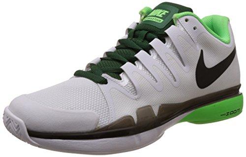 Nike Men's Zoom Vapor 9.5 Tour, WHITE/BLACK-VLTG GREEN-GRG GREEN, 9 M US (Vapor Tour 9 compare prices)